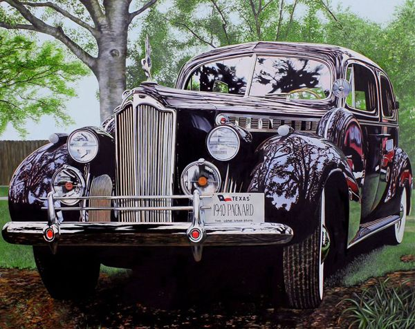 Photo Realistic Muscle Car Paintings By Cheryl Kelley Cars Car