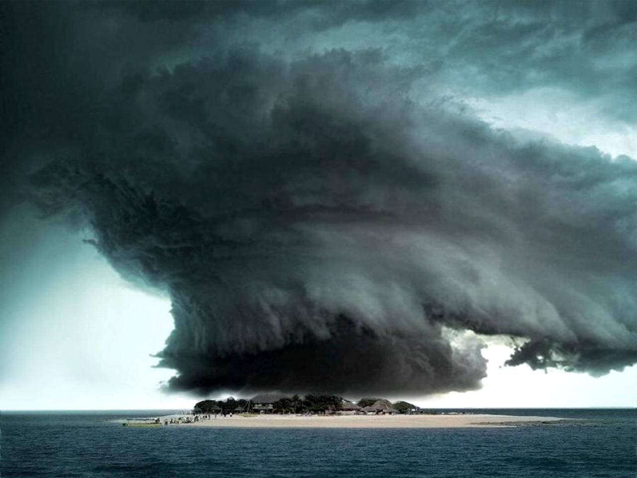 Storm over the Bermuda Triangle.