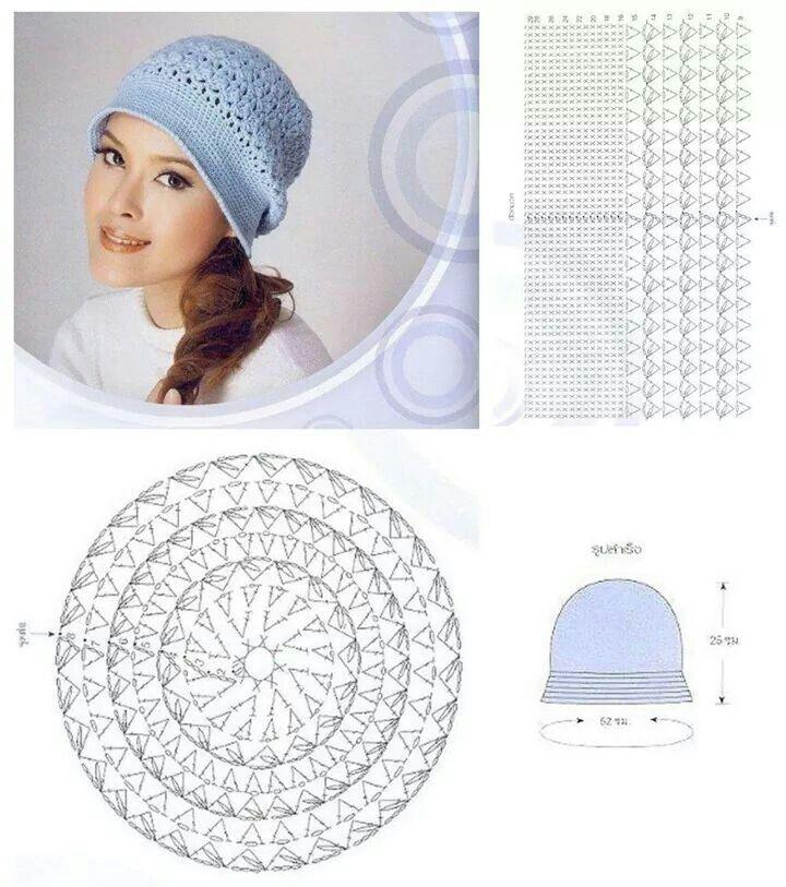 Pin de May Mathineehandmade en Hat hat handmade 2 | Pinterest ...