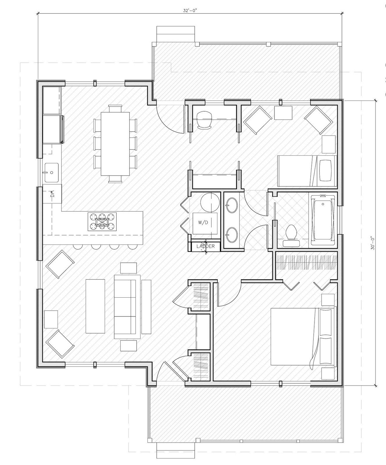House plan under 1000 sq ft