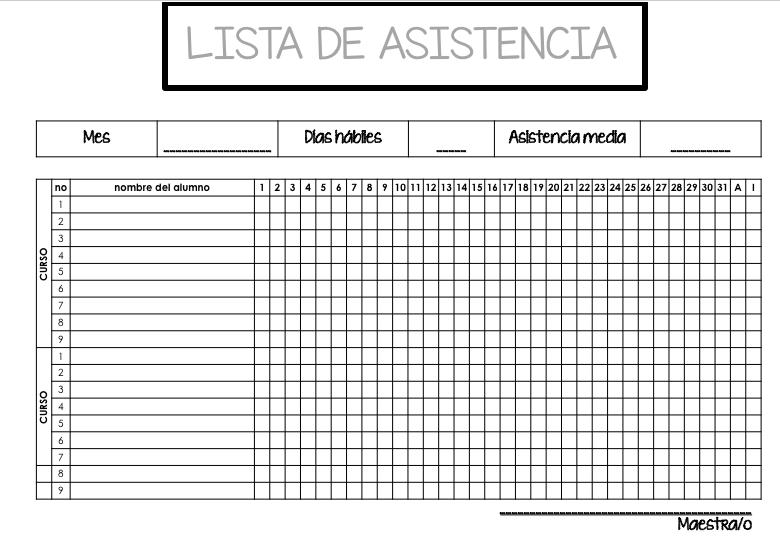 Plantillas Para Maquetar Tu Libro En Word Listas Para: DOS LISTAS DE CONTROL ASISTENCIA EDITABLES EN POWER POINT