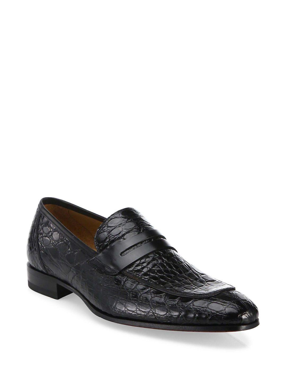 6e19d760782 MEZLAN CROCODILE PENNY LOAFERS.  mezlan  shoes