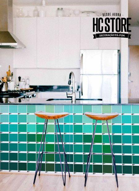 Adesivos para Azulejo Pantone Verde