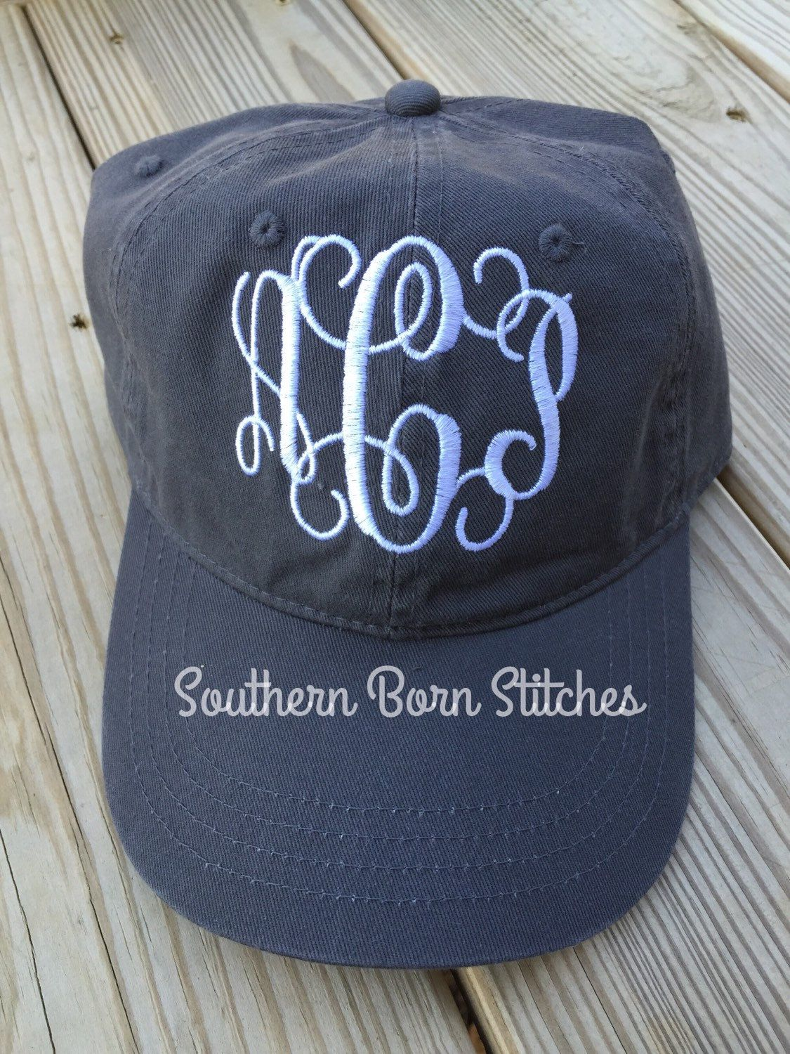 1d144272df5 Monogrammed hat women s baseball cap by SouthernBornStitches on Etsy ...