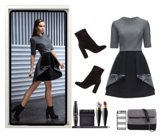 """""""Origami skirt"""" by haz94styles ❤ liked on Polyvore featuring Lattori, Gianvito Rossi, 7 Chi, Christian Louboutin, NYX, NARS Cosmetics, MAC Cosmetics and CellPowerCases"""