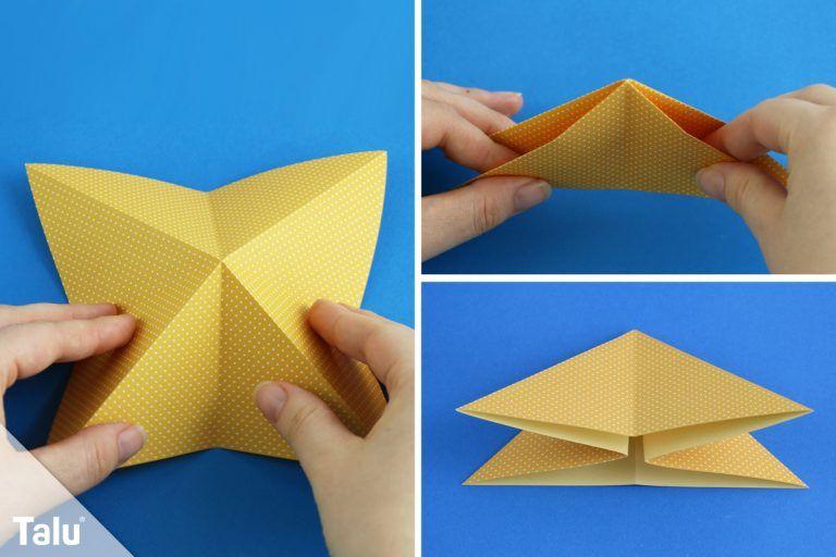 Origami Krebs falten – Anleitung mit Bildern