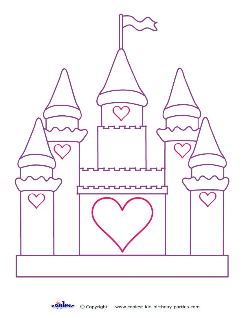 Castle Coloring Pages Castle Coloring Page Princess Coloring