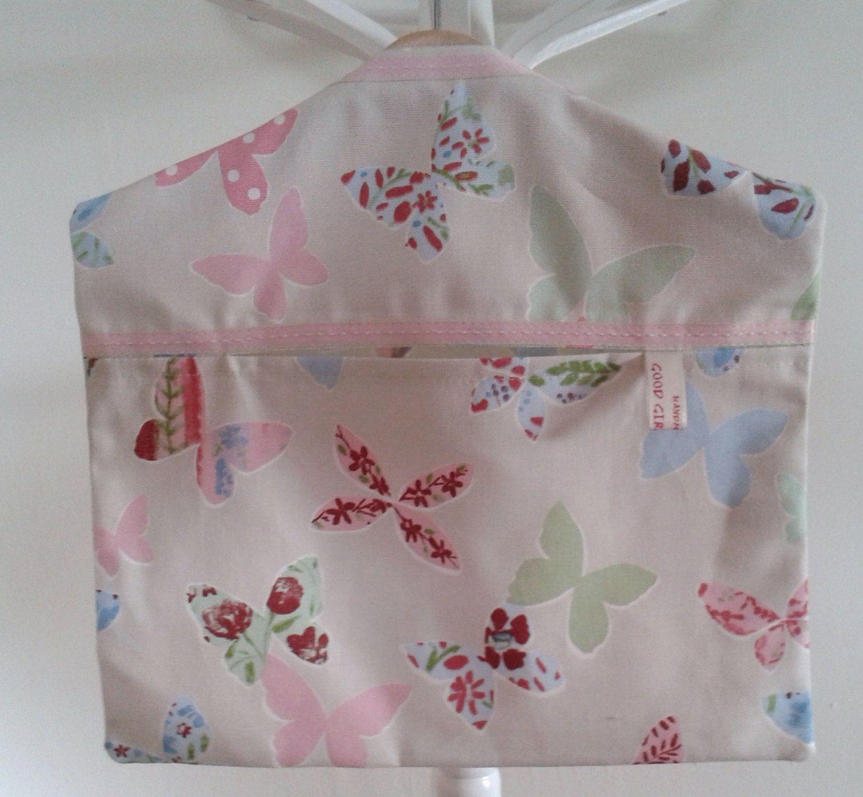 Handmade Cotton Canvas Butterfly Print Peg Bag by GoodGirlDesigns, £10.00