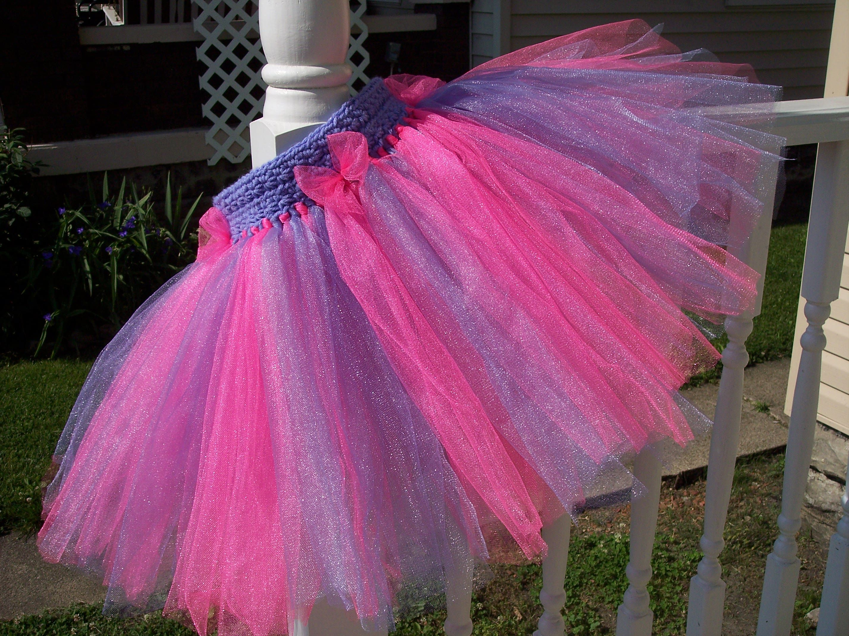 This is truly a crochet band tutu! It s not stretchy so she uses a button  closure. Very cute! I may have to try this! a319ae72842