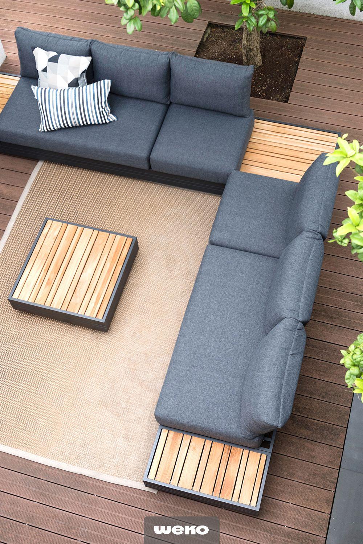 Beach Club Atmosphare Nach Hause Holen Lounge Gartenmobel Lounge Garnitur Lounge