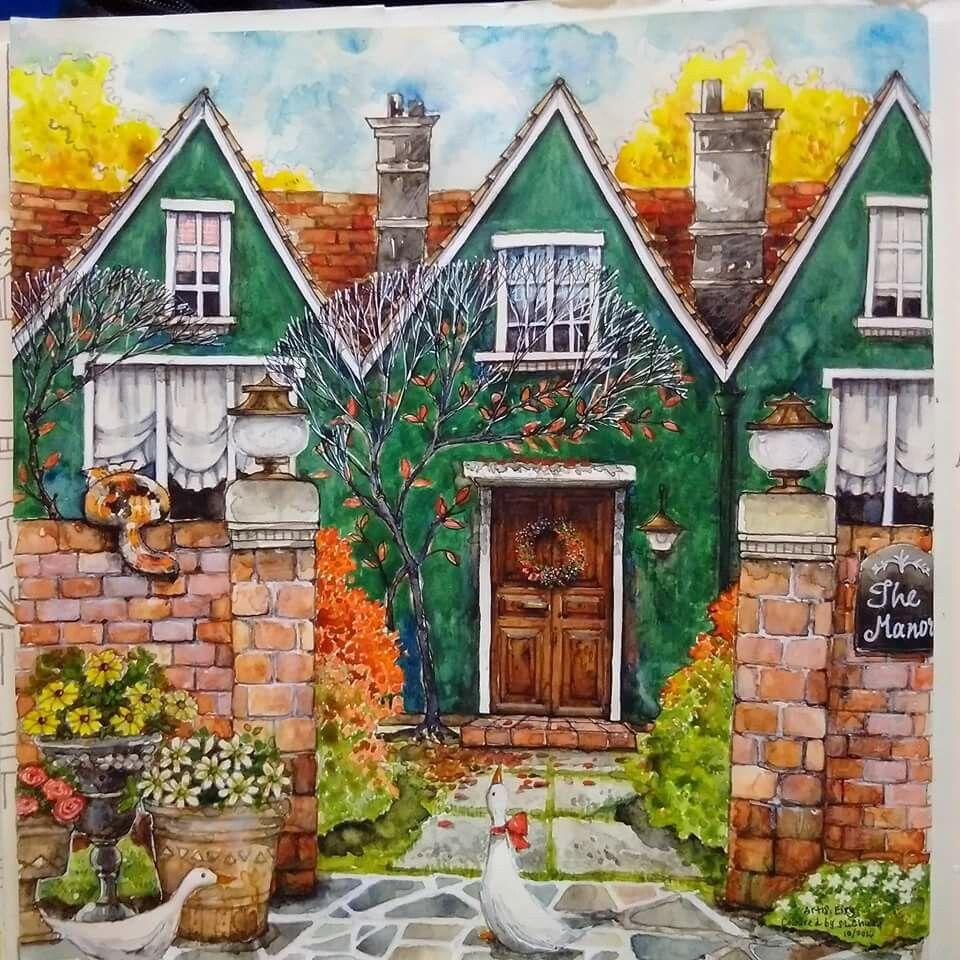Romantic Country Coloring Book | coloring | Pinterest | Páginas para ...