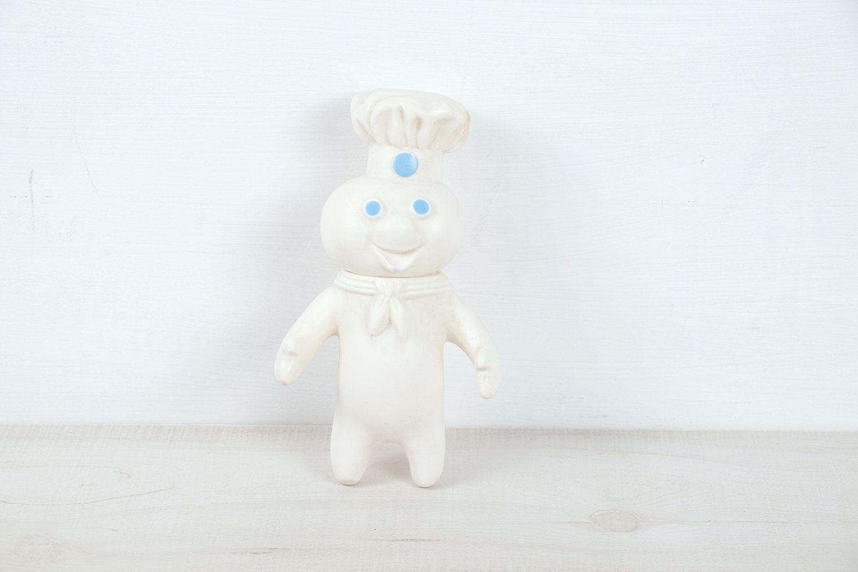 "Vintage Pillsbury Dough Boy 1971 Swivel Head 7/"" Vinyl Doll Pop N Fresh"