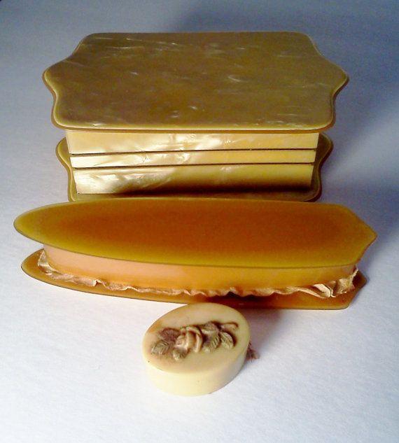 Vintage Vanity Box Celluloid Art Deco/Trinket by WeeLambieVintage, $25.00
