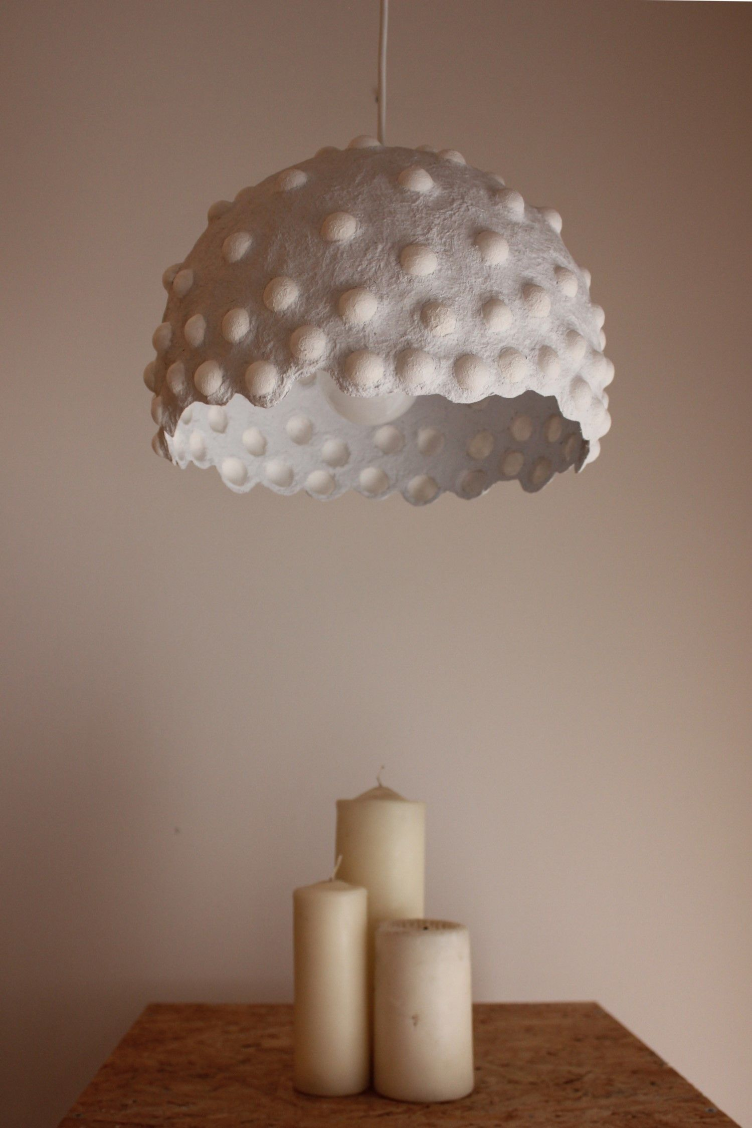 Paper Mache Pendant Light Recycled Paper Lampshade Paper Pulp Light Translucent Paper Light Hanging Lamp 30 Cm 12 Inches Diameter Diy Pendant Light Paper Lampshade Paper Light