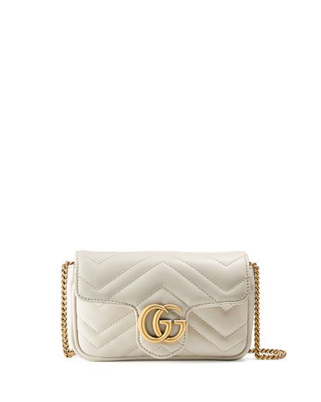 9d7273fad GG Marmont Matelassé Leather Super Mini Bag White Gucci Bag, Gucci Mini Bag,  Gucci