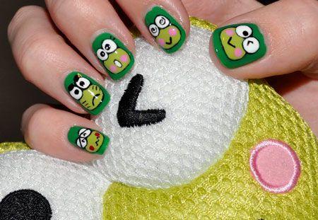 funny nails | Funny faces nail art | NailsShine.com - Funny Nails Funny Faces Nail Art NailsShine.com Makeup, Hair