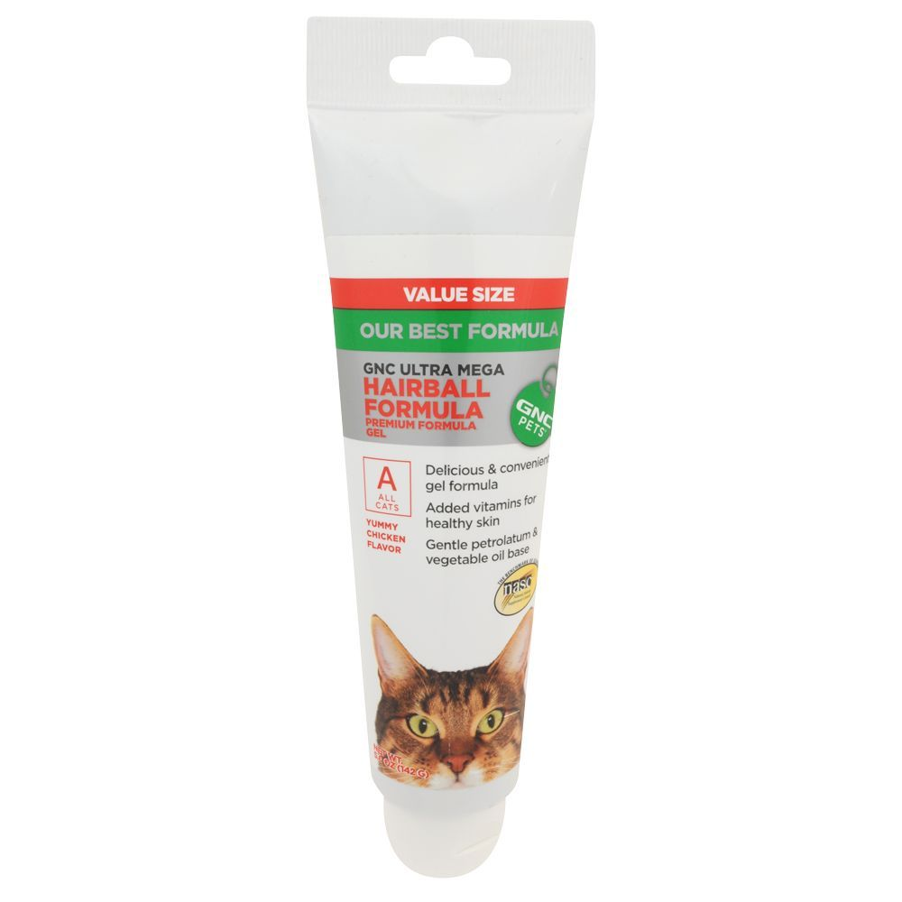 GNC Pets Ultra Mega Hairball Formula Cat Gel size 5 Oz