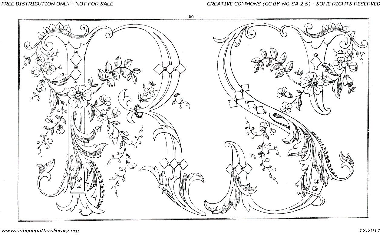 Antique Pattern Library Album De Broderie 612