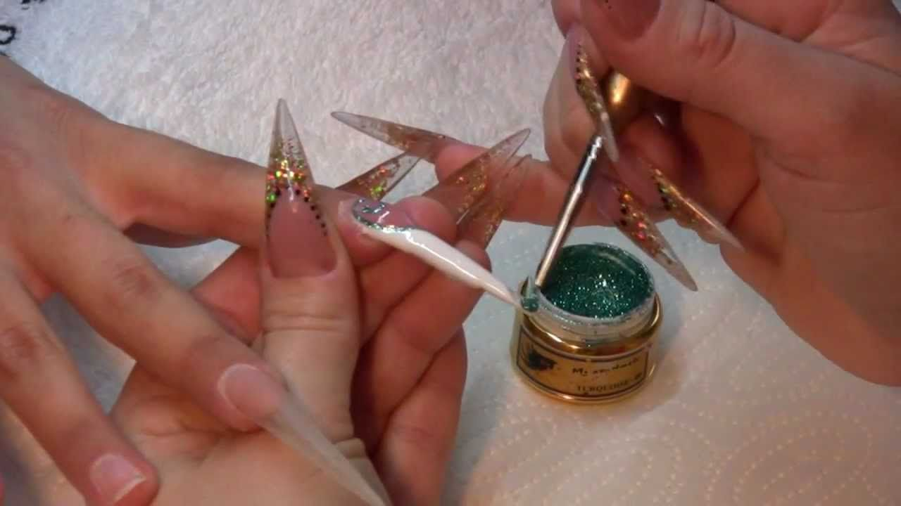 Mystic Nails - nail bed extension and amazing nail art with glitter ...