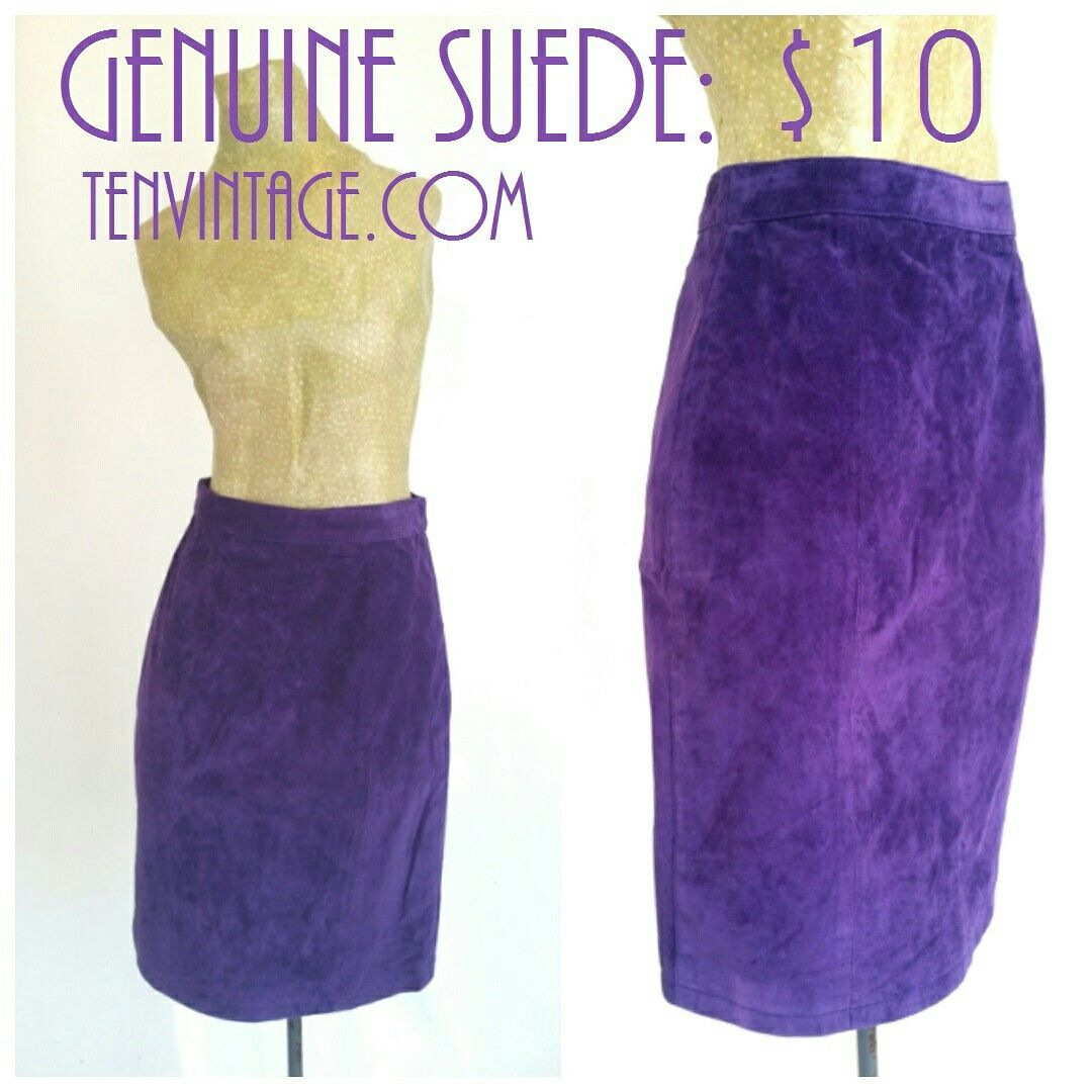 purple suede skirt by PARIS Sports Club XS $10 tenvintage.com All vintage is $10 or less. #purplesuede #wiggleskirt #salevintage #vintagesale #vintageclearance