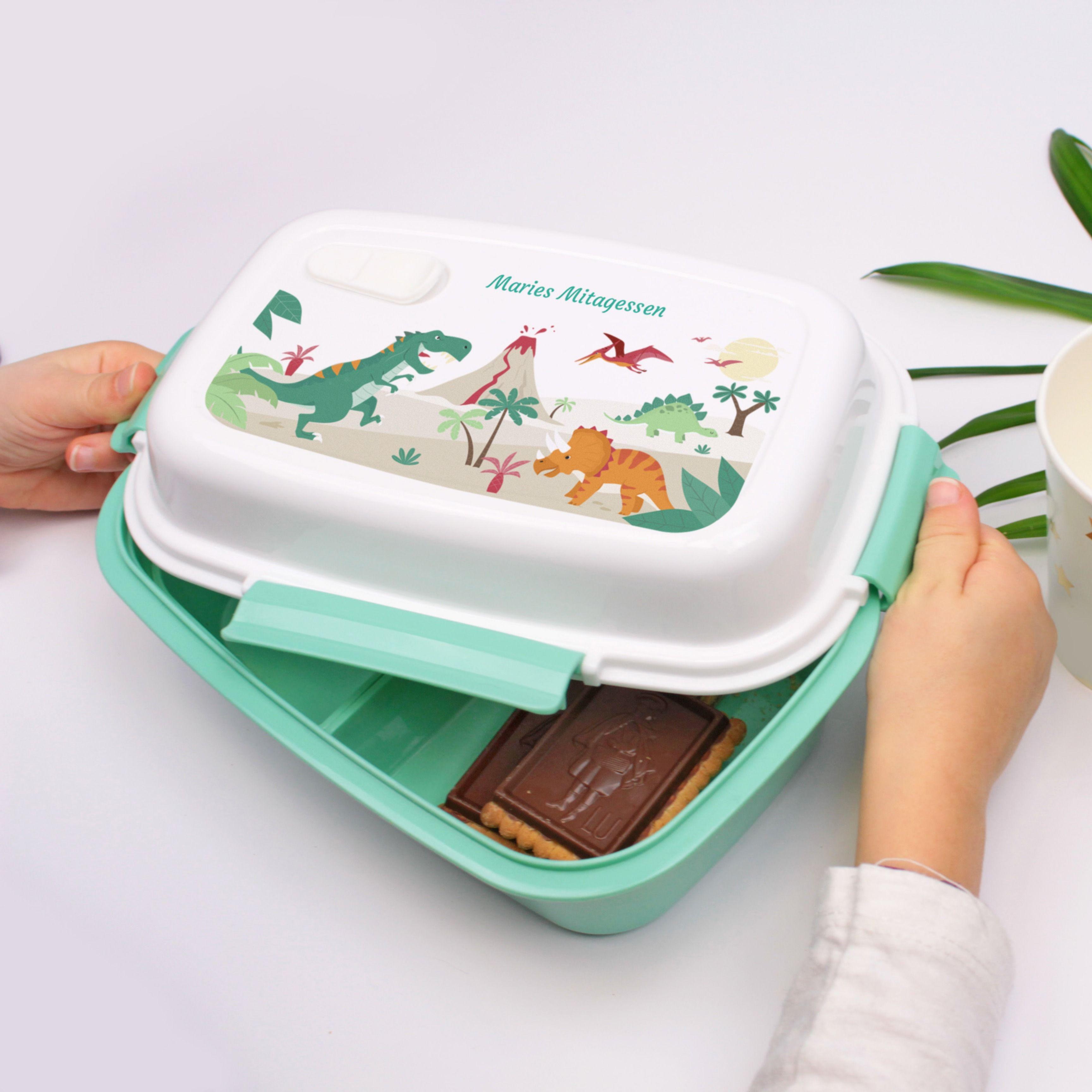 Personalisierte Brotdose Dinosaurier  – Unsere personalisierten Brotdosen ohne BPA
