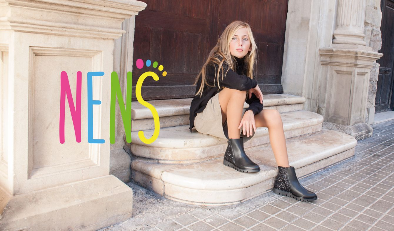 NENS AW 17-18 CHILDRENS SHOES Comfortable, yet elegant girls leather booties.