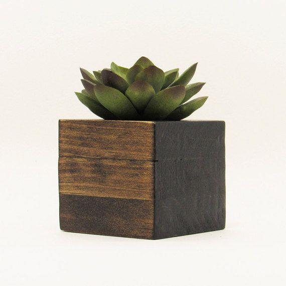 Succulent Planter, Wood Air Planter, Succulent Pot, Modern Planter ...