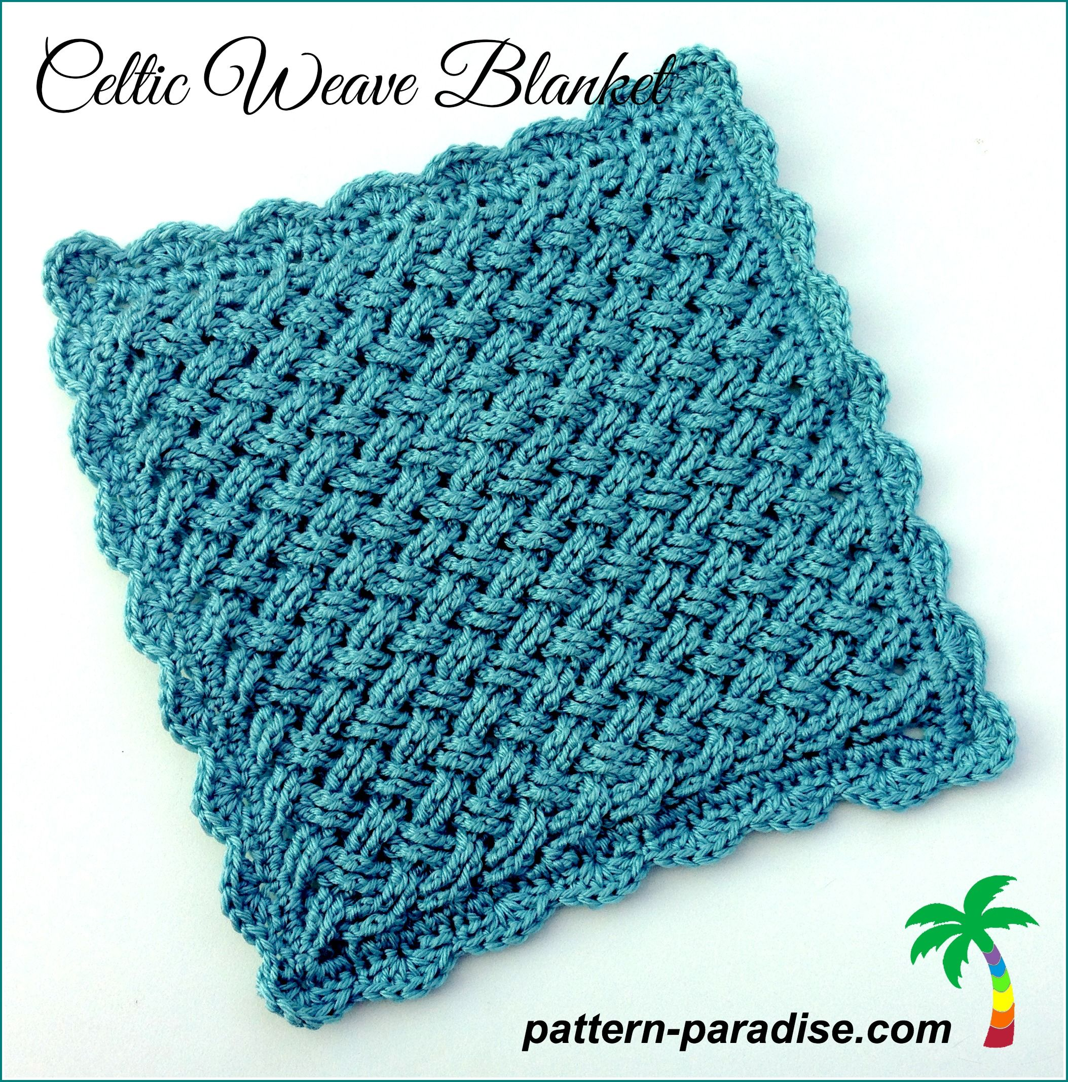 Celtic weave blanket free pattern crochet i love pinterest pattern paradise celtic weave blanket free crochet pattern in any size by maria bittner bankloansurffo Image collections