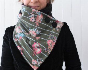 Snood Neck scarf, Woman scarf , black and white scarf , women scarf,  upcycled clothing, scarf recycled fabrics , neck warmer d48812604fd