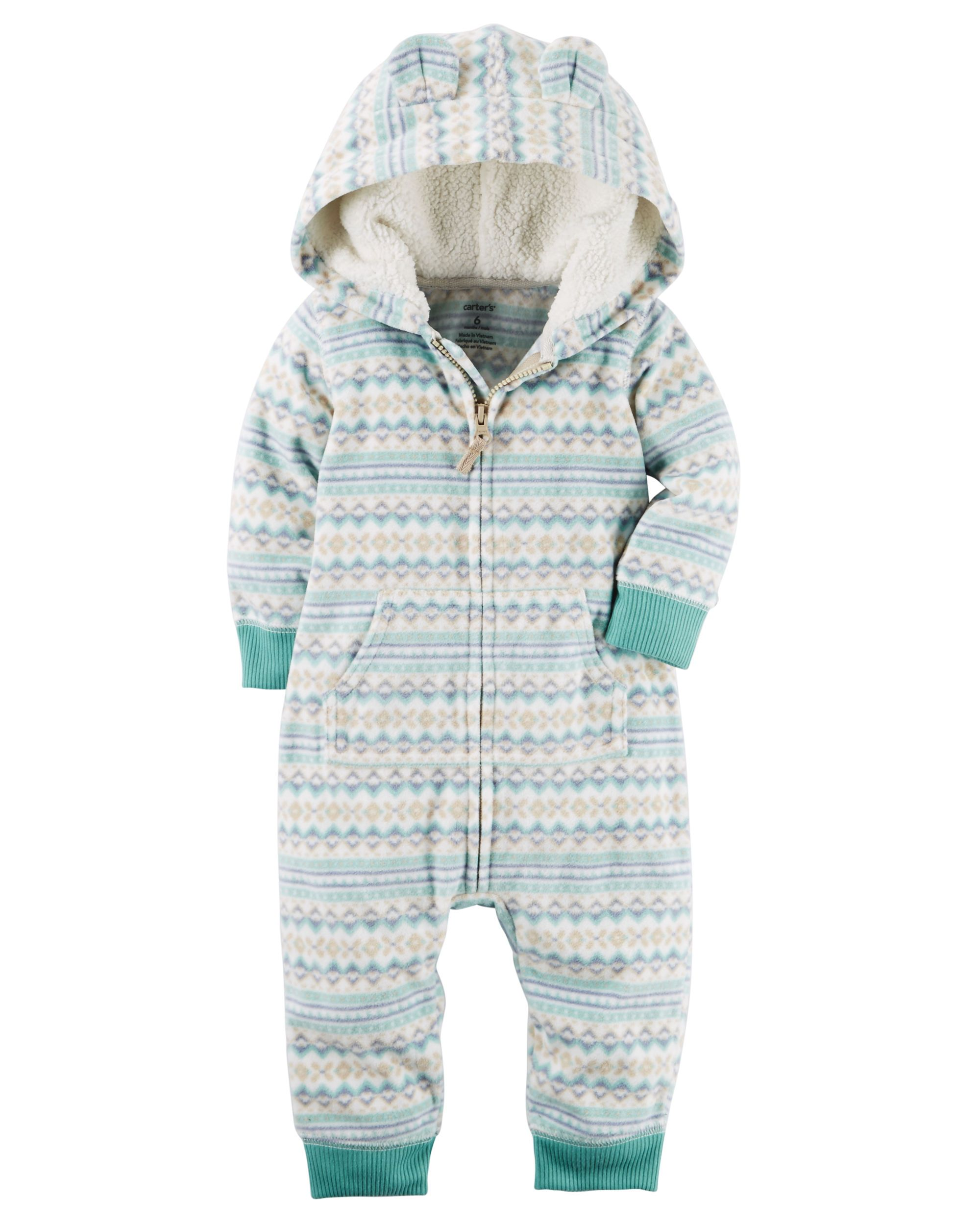 Essentials 2-Pack Microfleece Hooded Coverall Ni/ños
