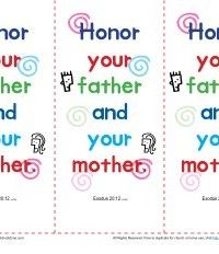 Honor Your Father And Mother Bookmarks You Are The Father Bible