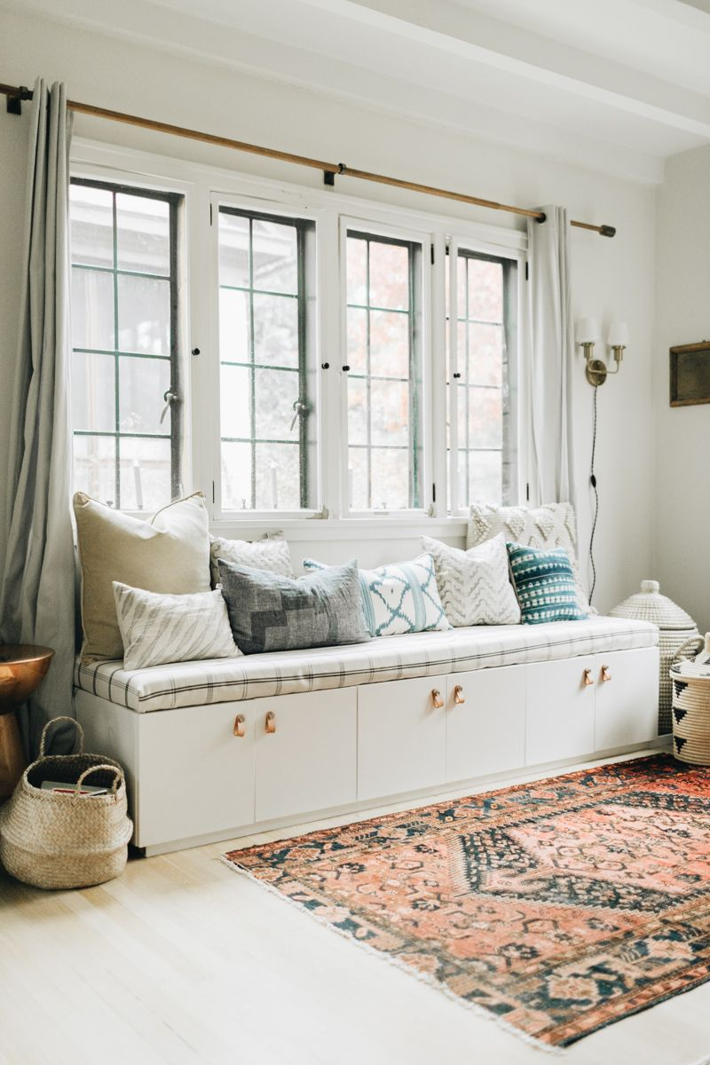 Designing A Home For A Growing Family Part Two The Diy Bench Edition Wit Delight Designing A Life Well Lived Living Room Bench Storage Bench Designs Ikea Living Room