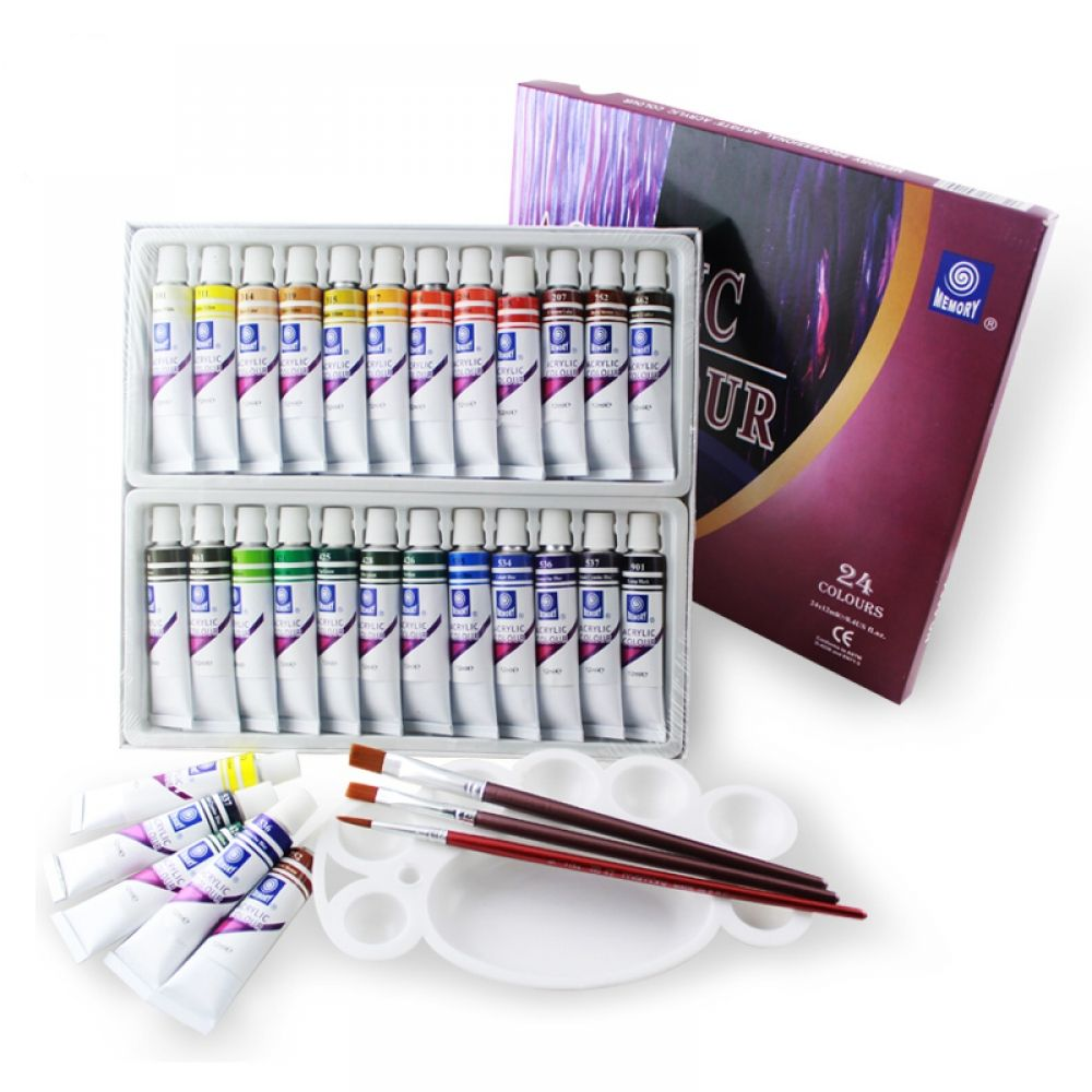 24 Colors Water Resistant Acrylic Paints Set Acrylic Paint Set