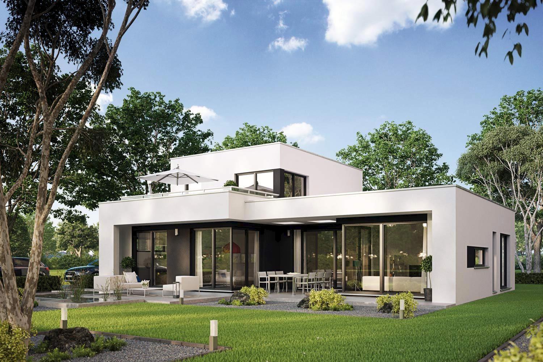 fertighaus casaretto architektenhaus mit dachterrasse von bdenbender - Fertighausplne