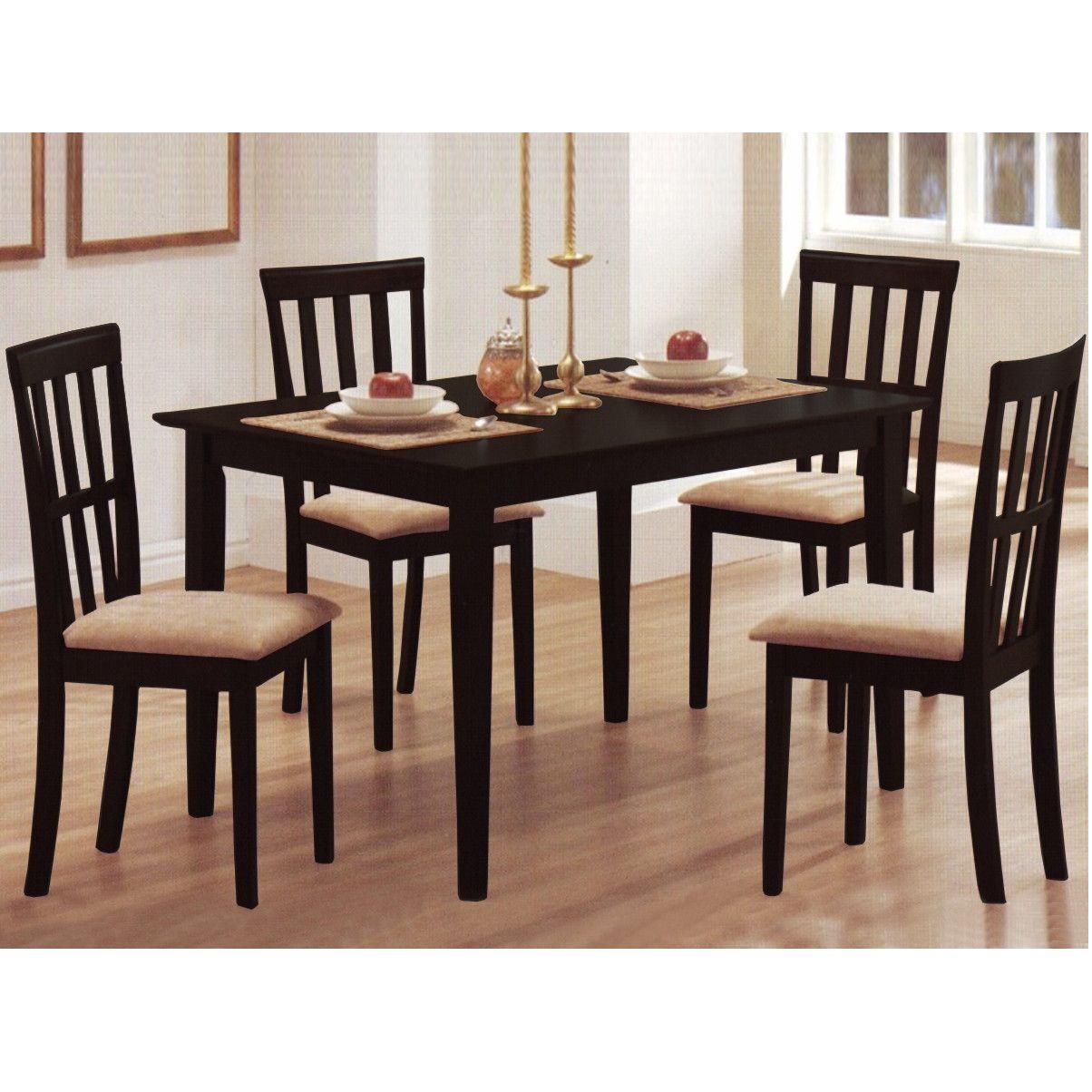 Baxton Studio Jet Moon 5 Piece Dining Set Counter Height Dining Table Dining Room Sets Dining Table Setting