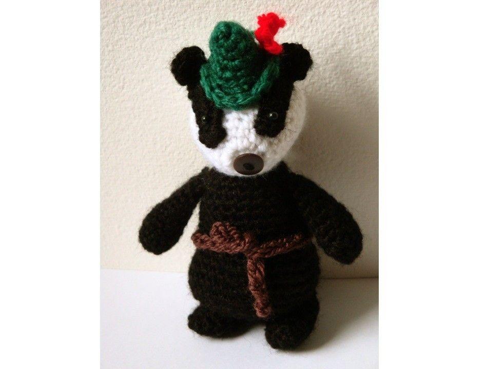 Easy Amigurumi Pdf : Amigurumi pattern badger pdf crochet pattern by mysteriouscats