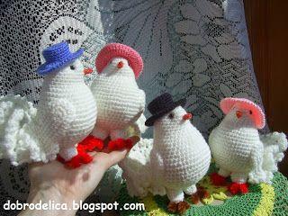 доброделица голубь крючком мастер класс лебеди голуби птички