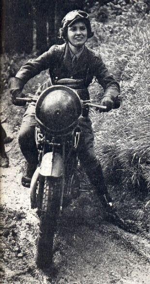 Girl-on-a-Bike  (British Army dispatcher, 1940)