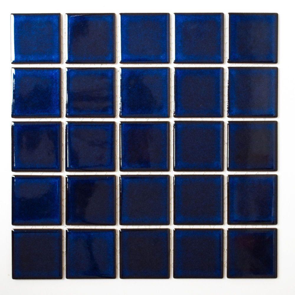 Details Zu Fliesen Mosaik Mosaikfliese Bad WC Keramik Quadrat - Glasmosaik fliesen blau