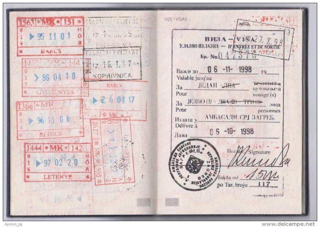 Expired Croatia Passport Visa Of Sr Yugoslavia 4x Issued During War 1991 1995 Look At Pics Visa Croatia Passport