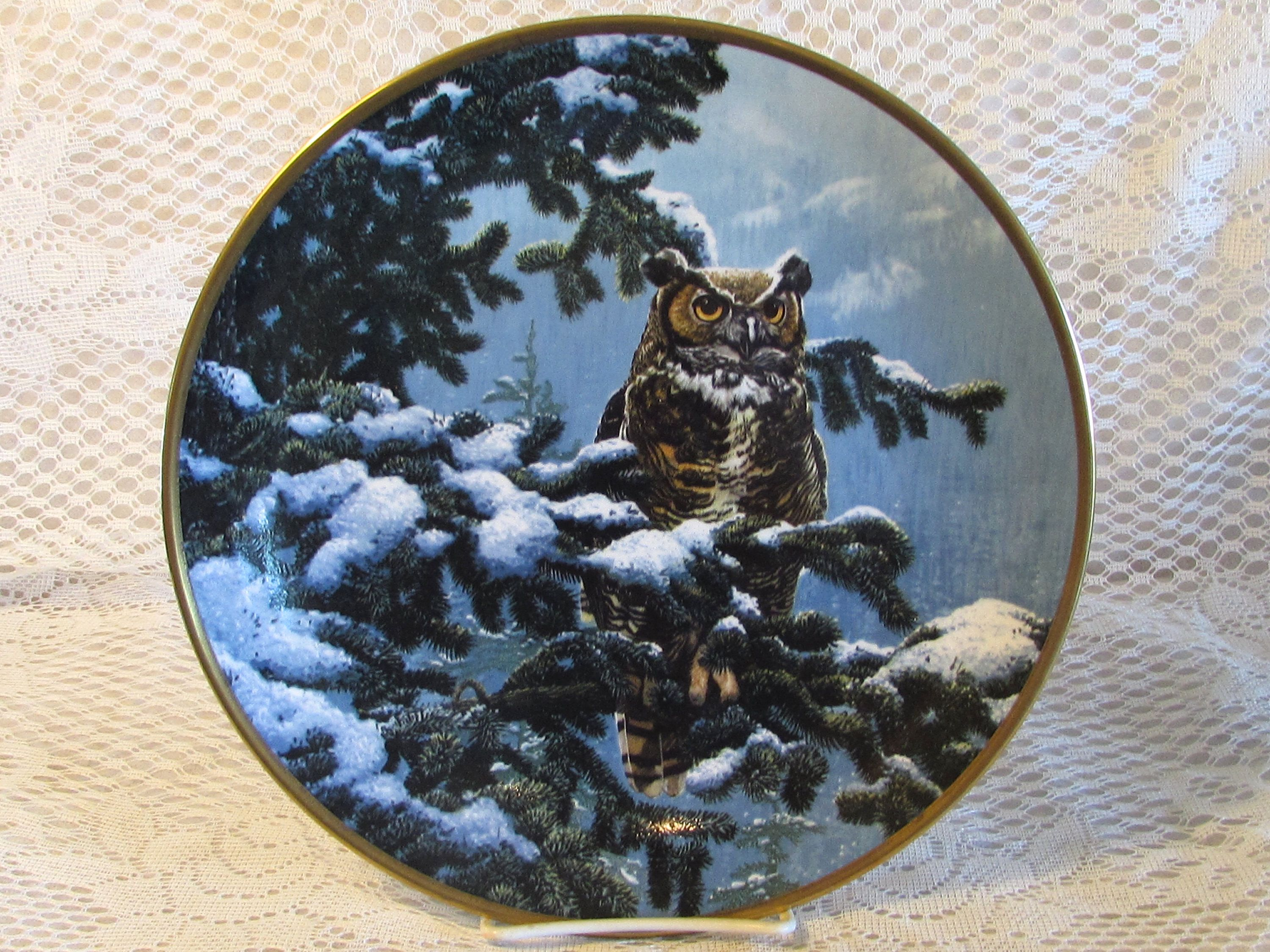 Winter Vigil Spode Collector Plate, Noble Owls of America Plate ...