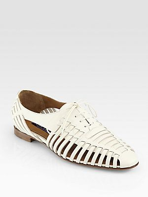 17d662b0847a Ralph Lauren Collection Quilissa Leather Cutout Lace-Up Oxfords ...