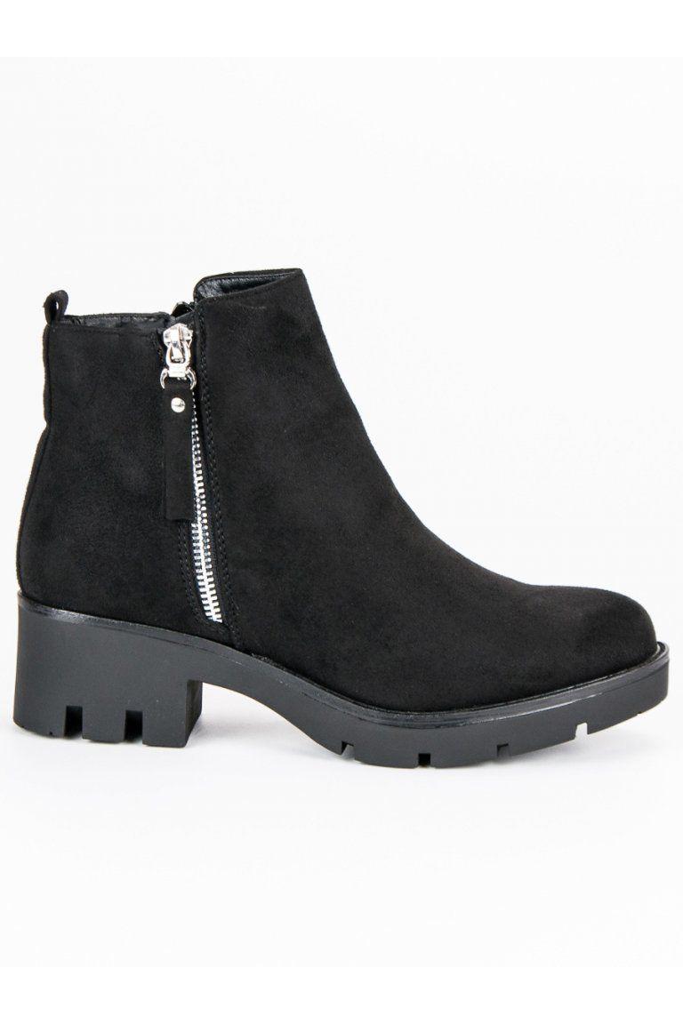 Čierne topánky s hrubou podrážkou Seastar  a145d5541bf