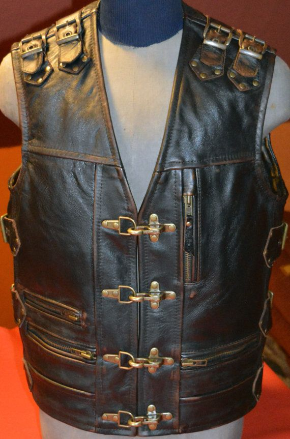 Apparel & Merchandise Coats & Jackets Son Of Anarchy Black Real Leather Handmade Motorcycle Biker Waistcoat Club Vest Modern Techniques