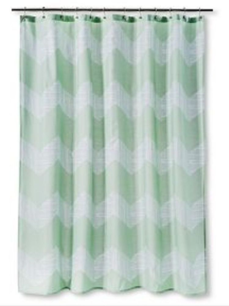 Target Room Essentials Fabric Shower Curtain New Mint Green