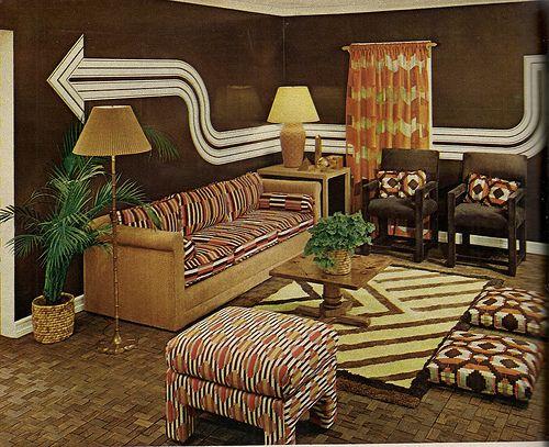 So Where Did Good Taste Go In 1974 Retro Living Rooms Vintage Living Room Furniture 70s Interior