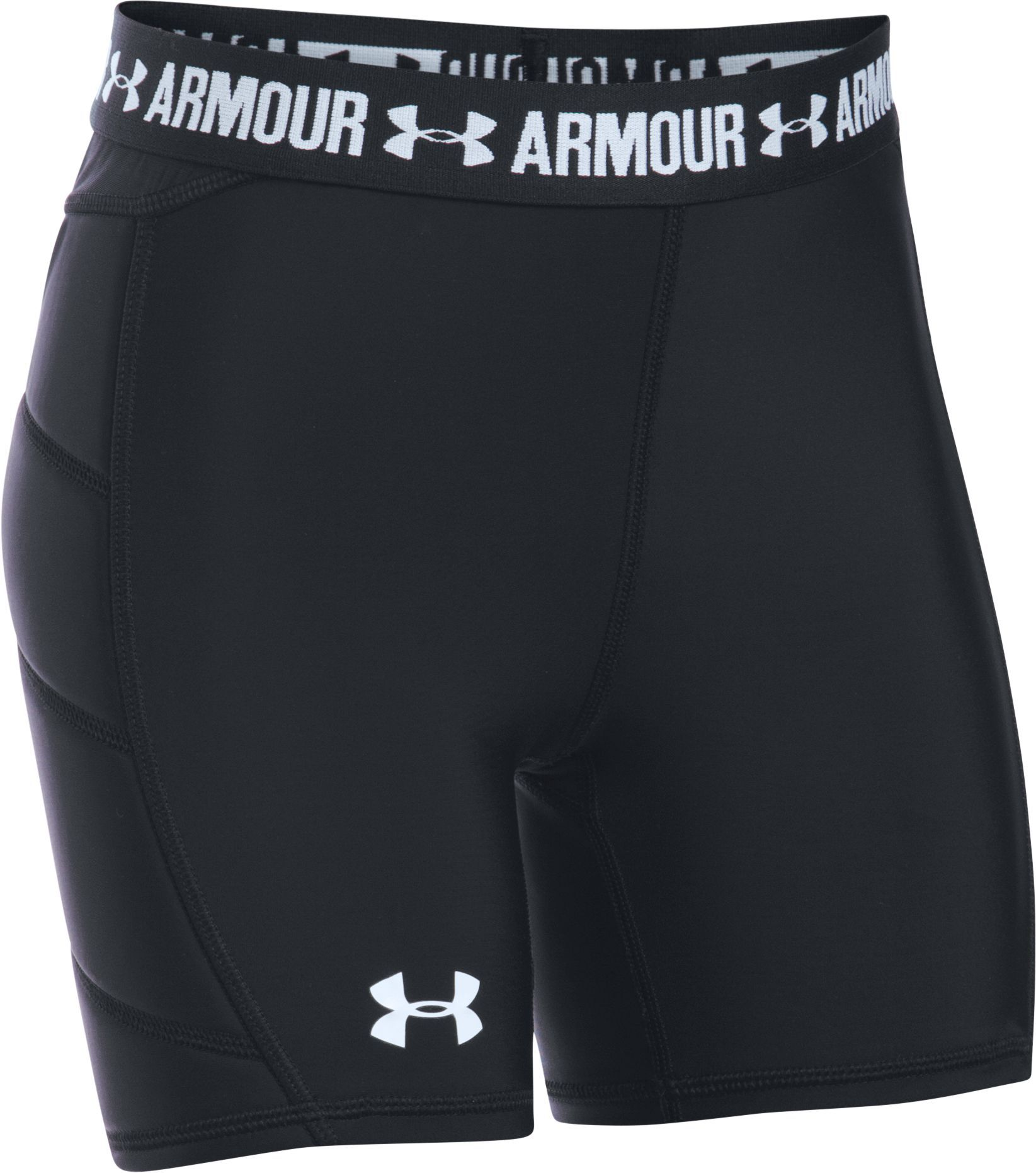 Under Armour Girls' Fastpitch Sliding Shorts, Size Small