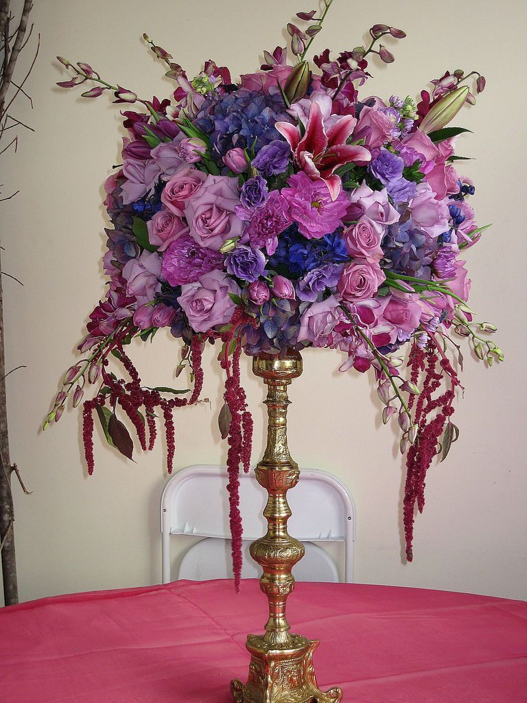 Big purple topiary on a silver stand daddyjim pinterest tall big purple topiary on a silver stand izmirmasajfo Images
