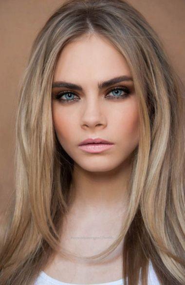 Cara Delevingne Celebrity Makeup Contouring Dark Blonde Hair Hair Color Light Brown Pale Skin Hair Color