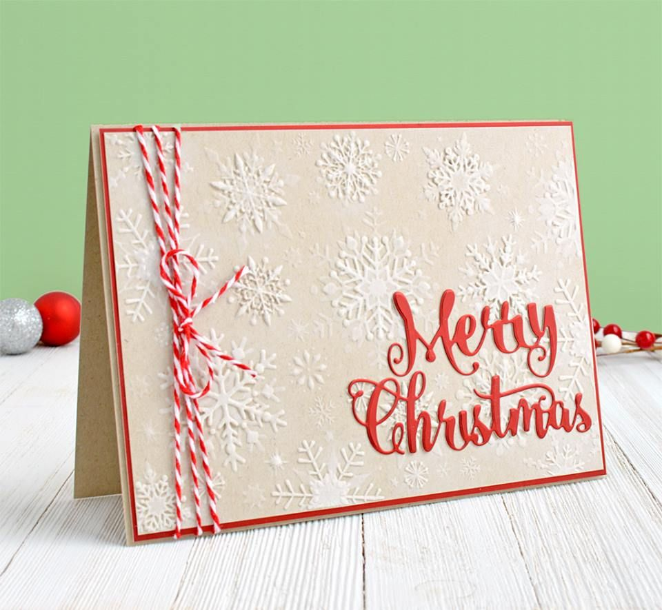 Quick and easy Christmas card! Created by Annie Williams using an ...